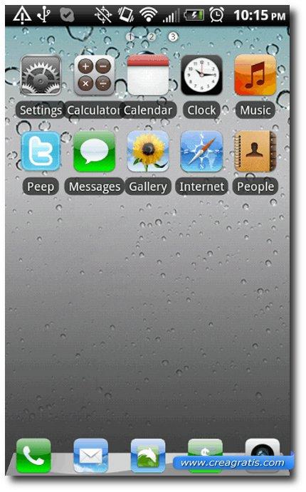 Primo Tema stile iPhone per smartphone Android