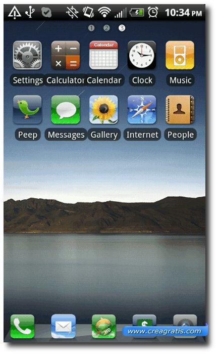 Secondo Tema stile iPhone per smartphone Android
