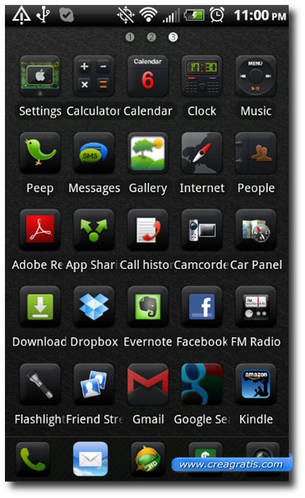 Terzo Tema stile iPhone per smartphone Android