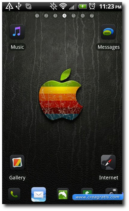 Quarto Tema stile iPhone per smartphone Android