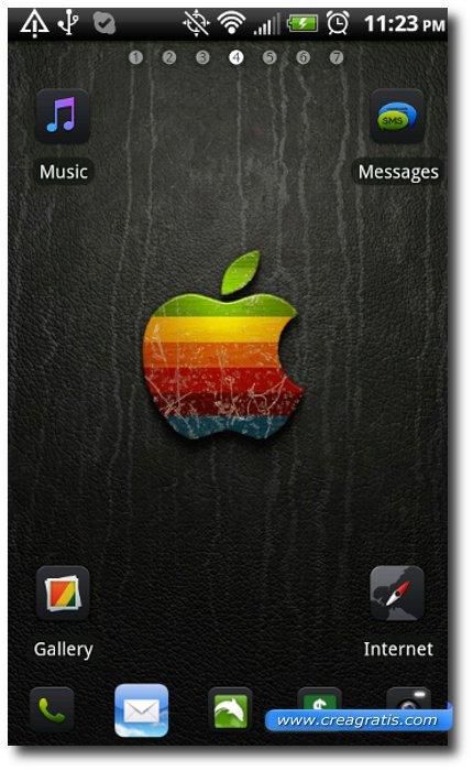 Quarto Tema stile iPhone per smartphone Android