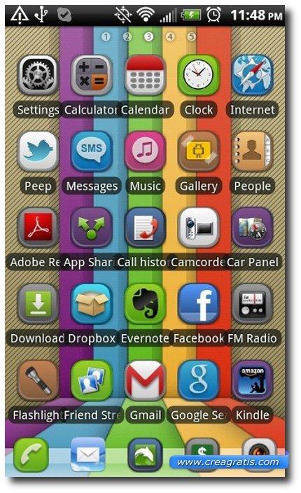 Sesto Tema stile iPhone per smartphone Android