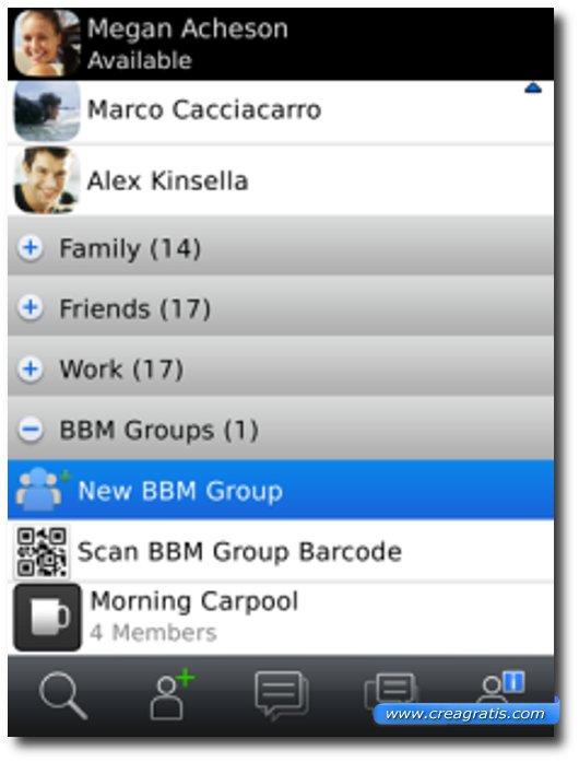 Prima applicazione per BlackBerry