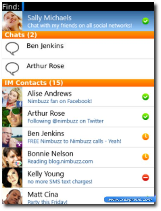 Settima applicazione per BalckBerry