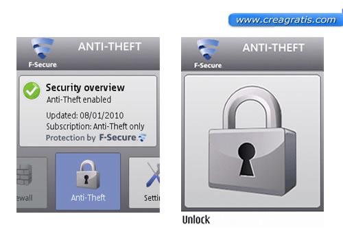 Panoramica sull'applicazione Anti-Theft
