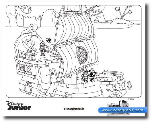 Esempio di uno dei disegni Disney da colorare