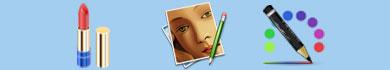 Servizio online per truccarsi il viso su una foto