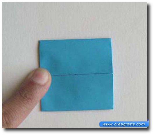 Quinto passaggio per fare una scatolina di carta