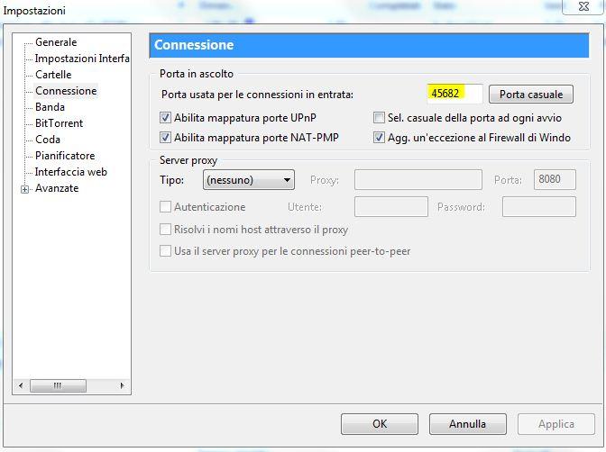 Configurazione delle impostazioni per velocizzare utorrent - Porta utorrent ...