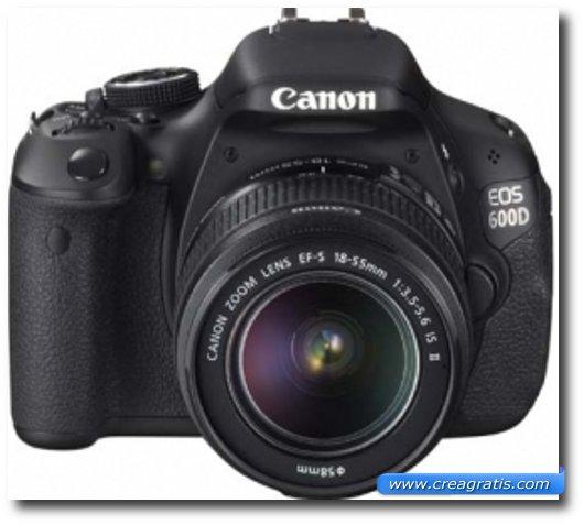 Immagine della fotocamera DSLR Canon EOS 600D