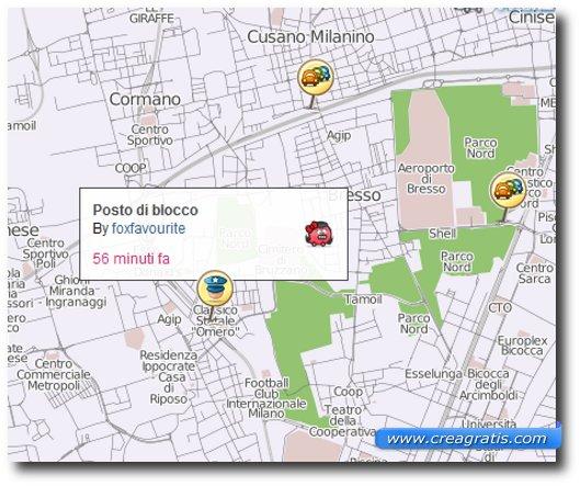Immagine che mostra le notifiche dell'applicazione Waze