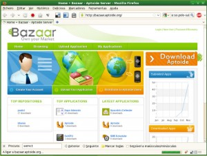 Interfaccia grafica del sito Bazaar