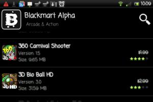 Interfaccia grafica del sito BlackMart