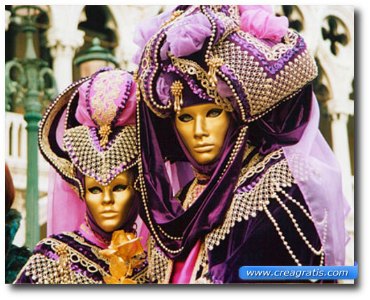 Immagine di una maschera di carnevale