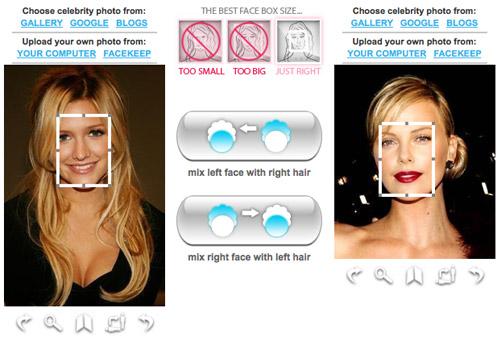 Interfaccia grafica di Hairmixer