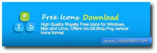 Primo sito per scaricare icone gratis