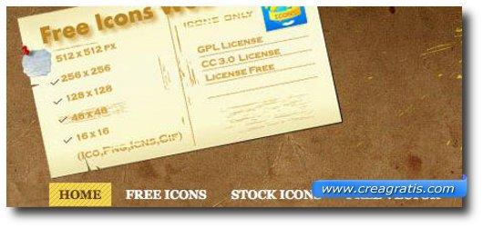 Nono sito per scaricare icone gratis