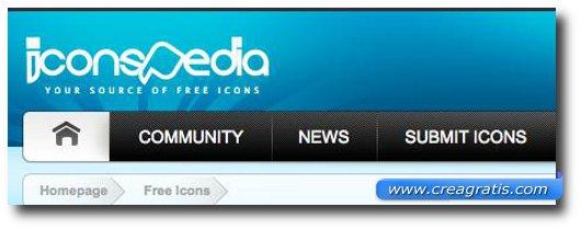Sedicesimo sito per scaricare icone gratis