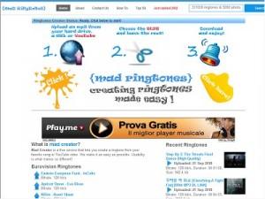 Interfaccia dell'ottavo sito per scaricare suonerie per iPhone gratis