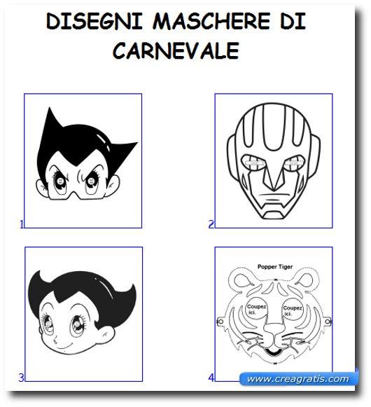 Immagine del sito Colora Tutto per trovare maschere di carnevale