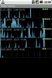 Interfaccia grafica di Smart Alarm Clock, sveglia per Android