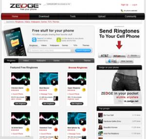 Interfaccia del quinto sito per scaricare suonerie per iPhone gratis