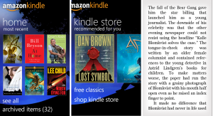 Immagine dell'applicazione Amazon Kindle per Windows Phone 7