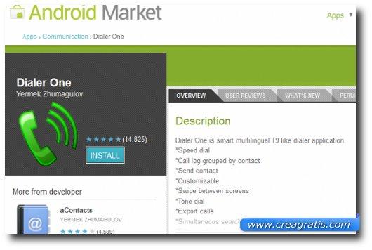 Immagine dell'applicazione Dialer One per Android
