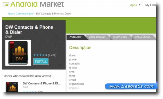 Immagine dell'applicazione Contact Group Manager (Free) per Android