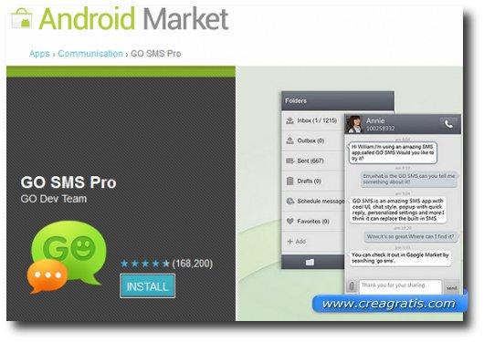 Immagine dell'applicazione GO SMS Pro per Android