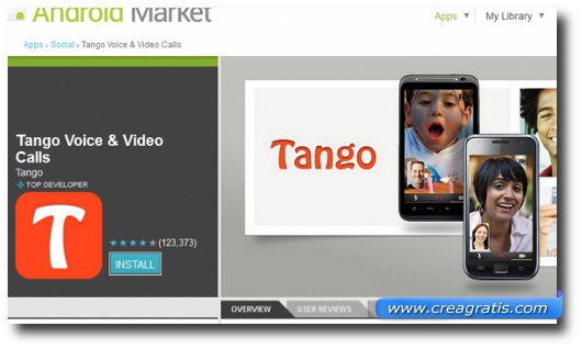 Immagine dell'applicazione Tango Voice & Video Calls per Android