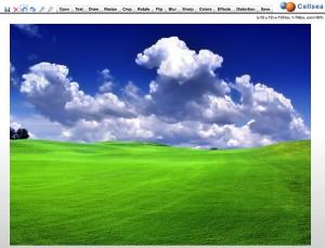 Immagine del sito CellSea per modificare foto online