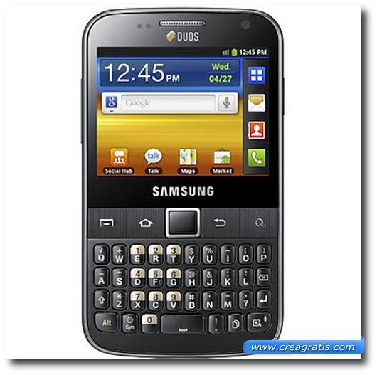 Immagine del cellulare Samsung Galaxy Y Pro Duos