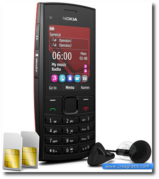 Immagine del cellulare Nokia X 2-02