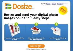 Immagine del sito Dosize per modificare foto online