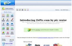 Immagine del sito DrPic per modificare foto online