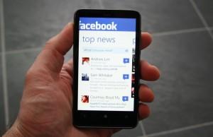 Immagine dell'applicazione FaceBook per Windows Phone 7