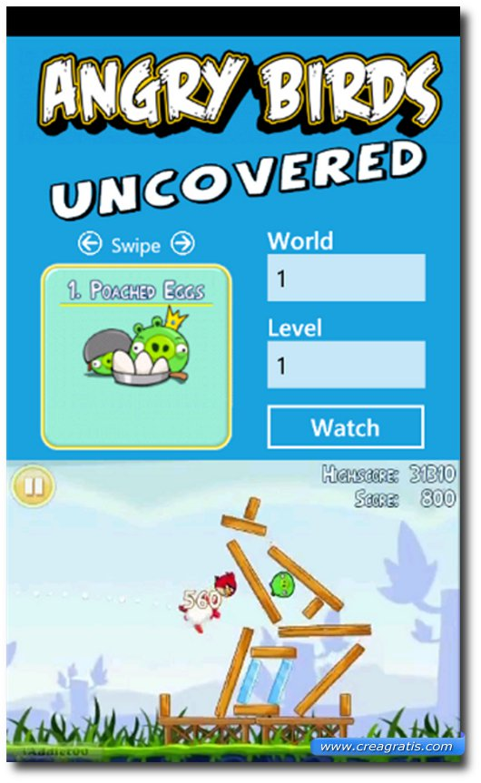 Immagine del gioco Angry Birds Uncovered per Windows Phone 7