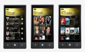 Immagine dell'applicazione IMDb per Windows Phone 7