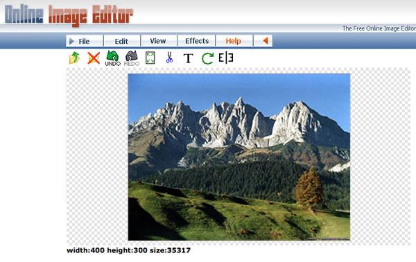 Immagine del sito OnlineImageEditor per modificare foto online