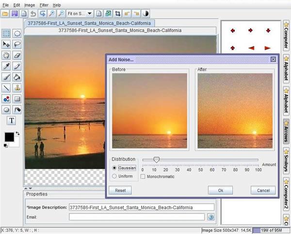 Immagine del sito OnlinePhotoTool per modificare foto online