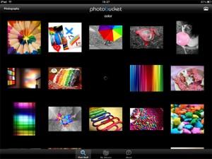 Applicazione di fotografia Photobucket per iPad