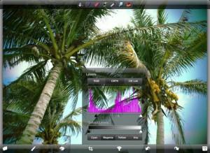 Applicazione di fotografia PhotoForge per iPad