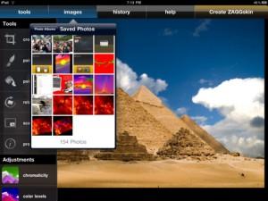 Applicazione di fotografia PhotoPad per iPad