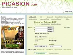 Immagine del sito Picasion per modificare foto online