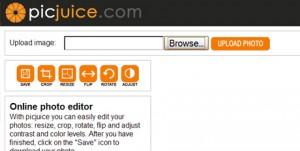 Immagine del sito PicJuice per modificare foto online