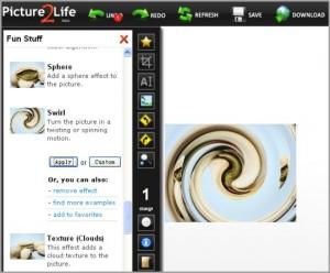 Immagine del sito Picture2Life per modificare foto online