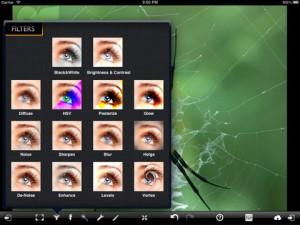 Applicazione di fotografia PixelMagic per iPad