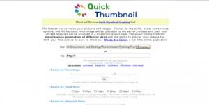 Immagine del sito QuickThumbnail per modificare foto online