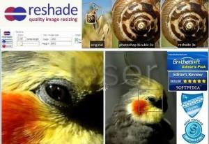Immagine del sito Reshade per modificare foto online